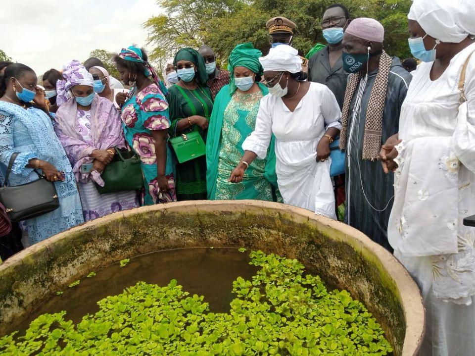 La ministre de la Femme a visité les groupements de femmes maraîchères de Ngoumsane.